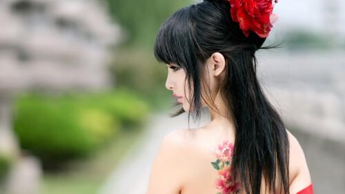 Asian Tattooed Teen Girl Wallpaper #354
