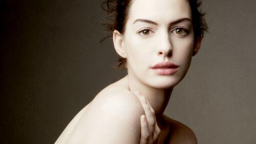 Beautiful Anne Hathaway American Actress Celebrity Wallpaper #081