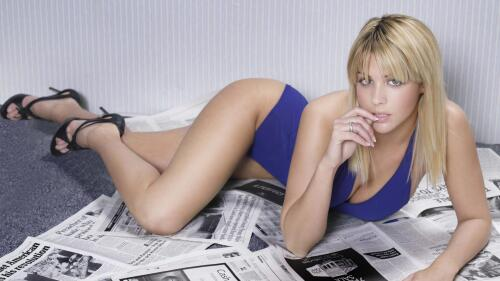 Sensual Babe Gemma Atkinson Hot Blonde English Model Girl Wallpaper #087