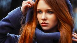 Sexy Brown Eyes Red Hair Teen Girl Wallpaper #3453